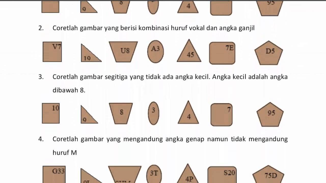 Contoh Soal Psikotes Tni Al Matematika Psikologi Huruf