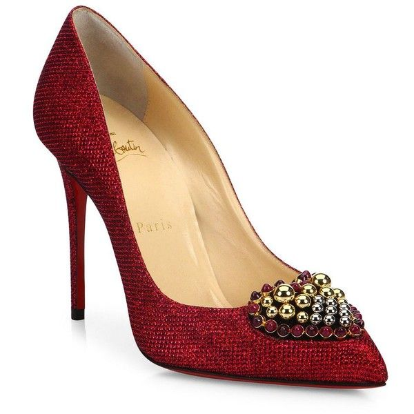 39febb24625 Christian Louboutin Coralta Mia Heart Pumps ( 845) ❤ liked on Polyvore  featuring shoes