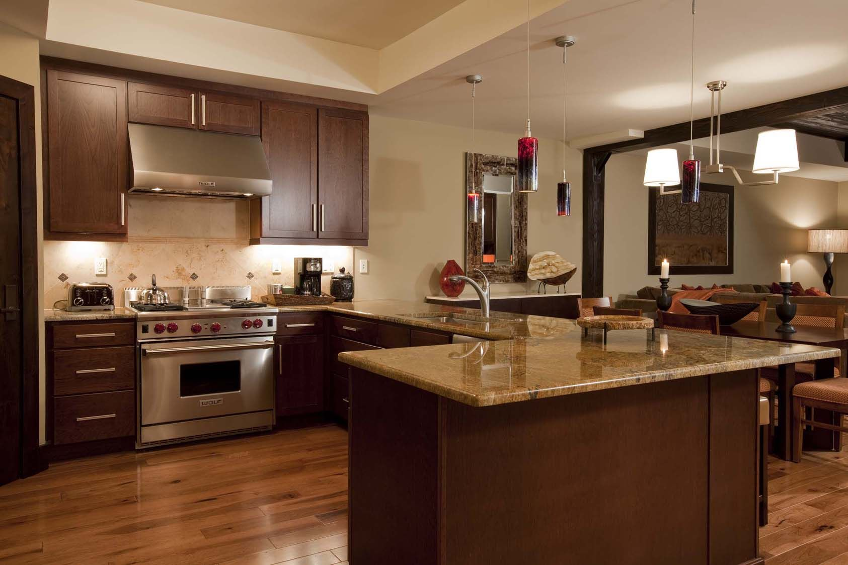 hickory flooring in kitchen three bedroom residence lumiere telluride home depot kitchen on kitchen remodel floor id=97468