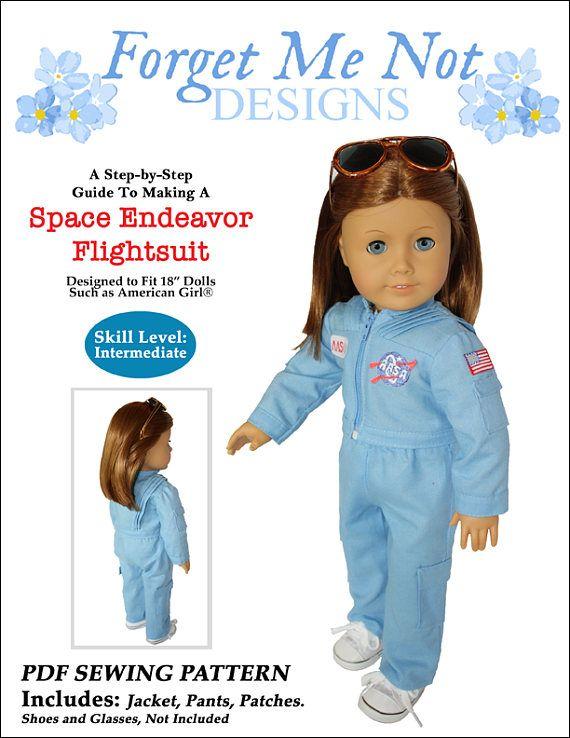 Pixie Faire Forget Me Not Designs Space Endeavor Flightsuit Doll ...