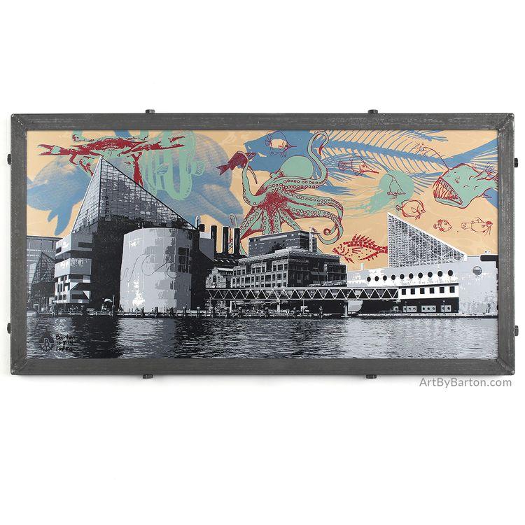 National Aquarium, Baltimore, MD | Art prints, Silk screen ...