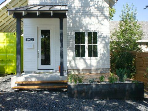 Open Envelope Studio|cedar deck with steel planters