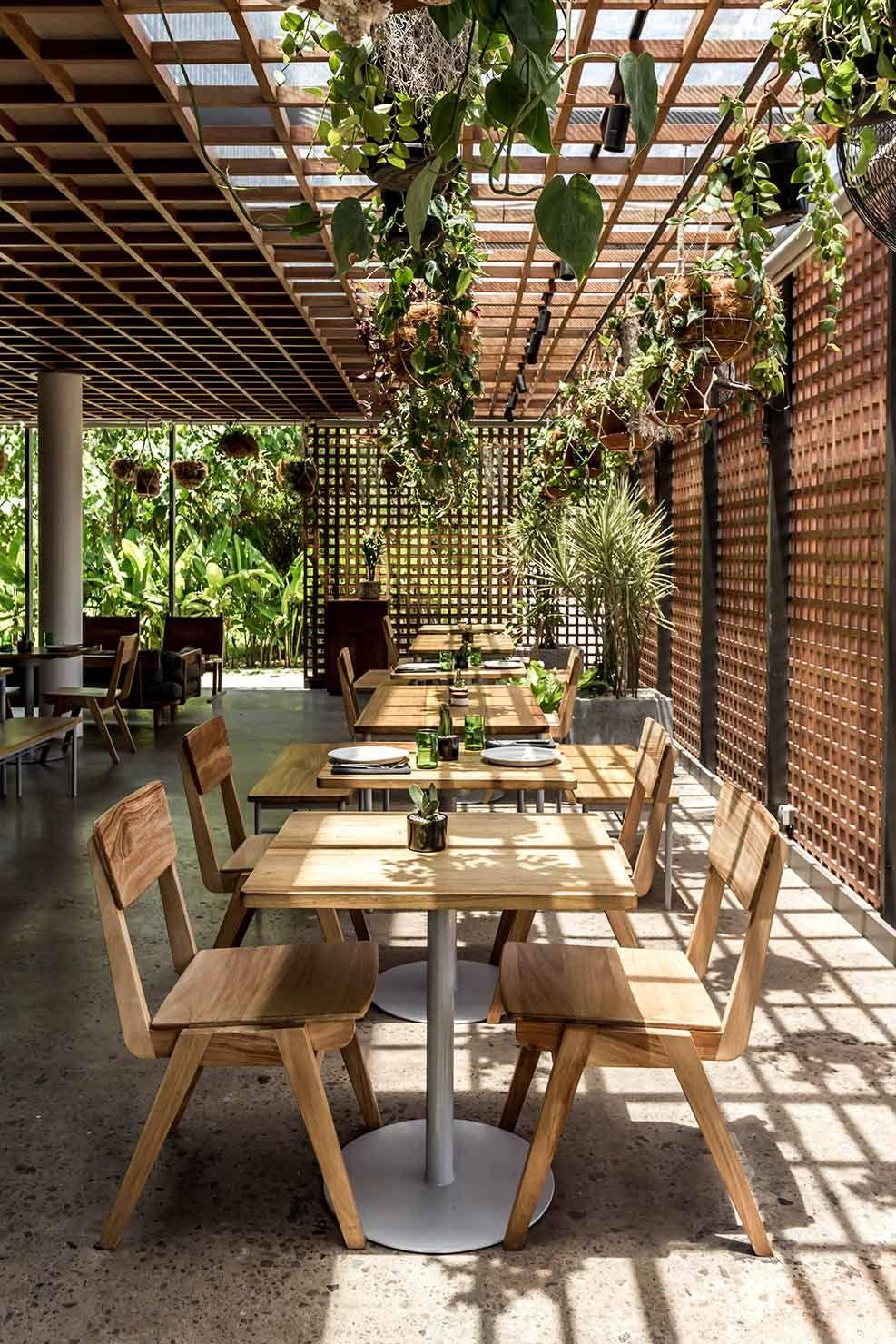 The Slow Bali Interiors Outdoor Restaurant Patio Restaurant Exterior Outdoor Restaurant Design