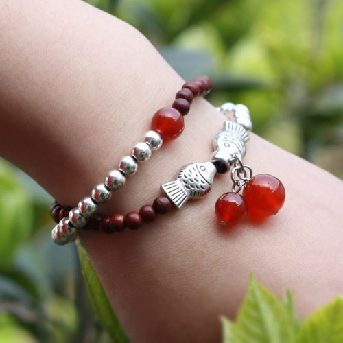 2014 Freeshipping Animal Bracelets Bangles Loom Bands Jewelry Entity Chinese Style Double Bracelet free To Take Samples No.2105