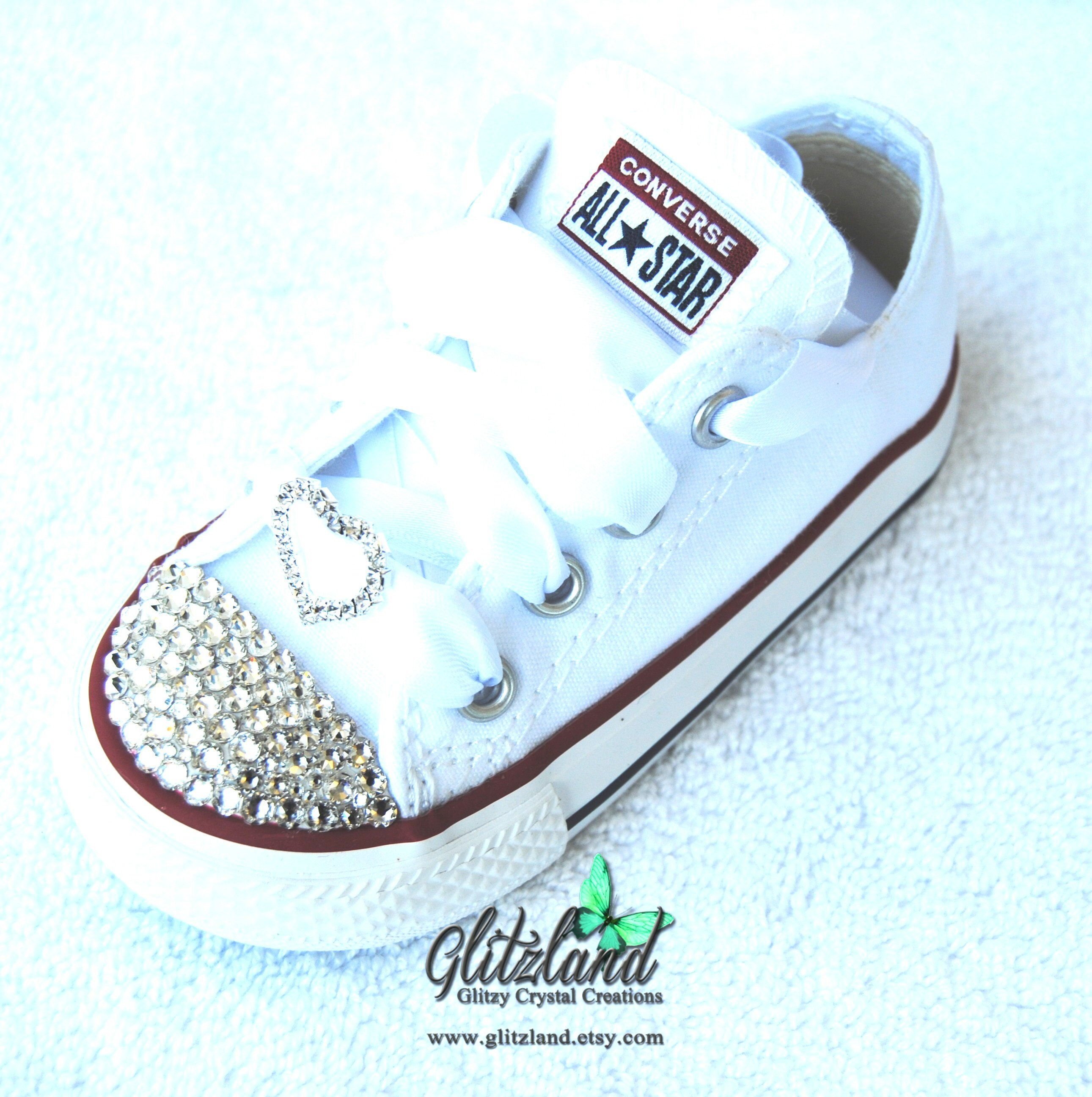 Kids Converse, Bling Crystals, Toddler Sizes, 2 10