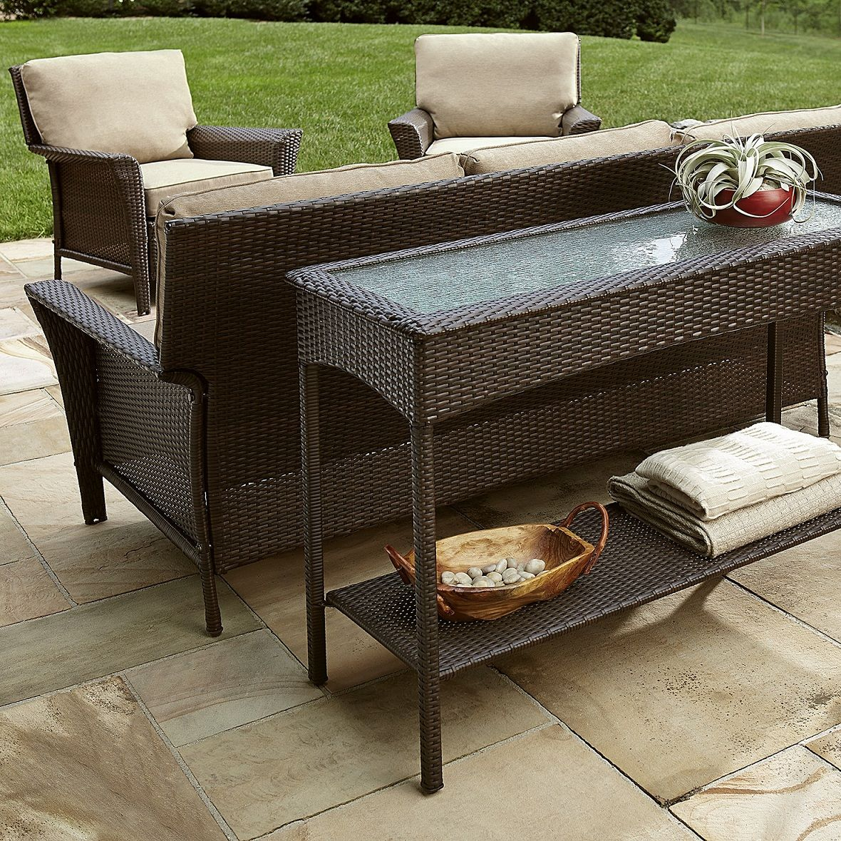 Outdoor Console Table Materials Hupehome Outdoor Console Table Console Table Outdoor Furniture