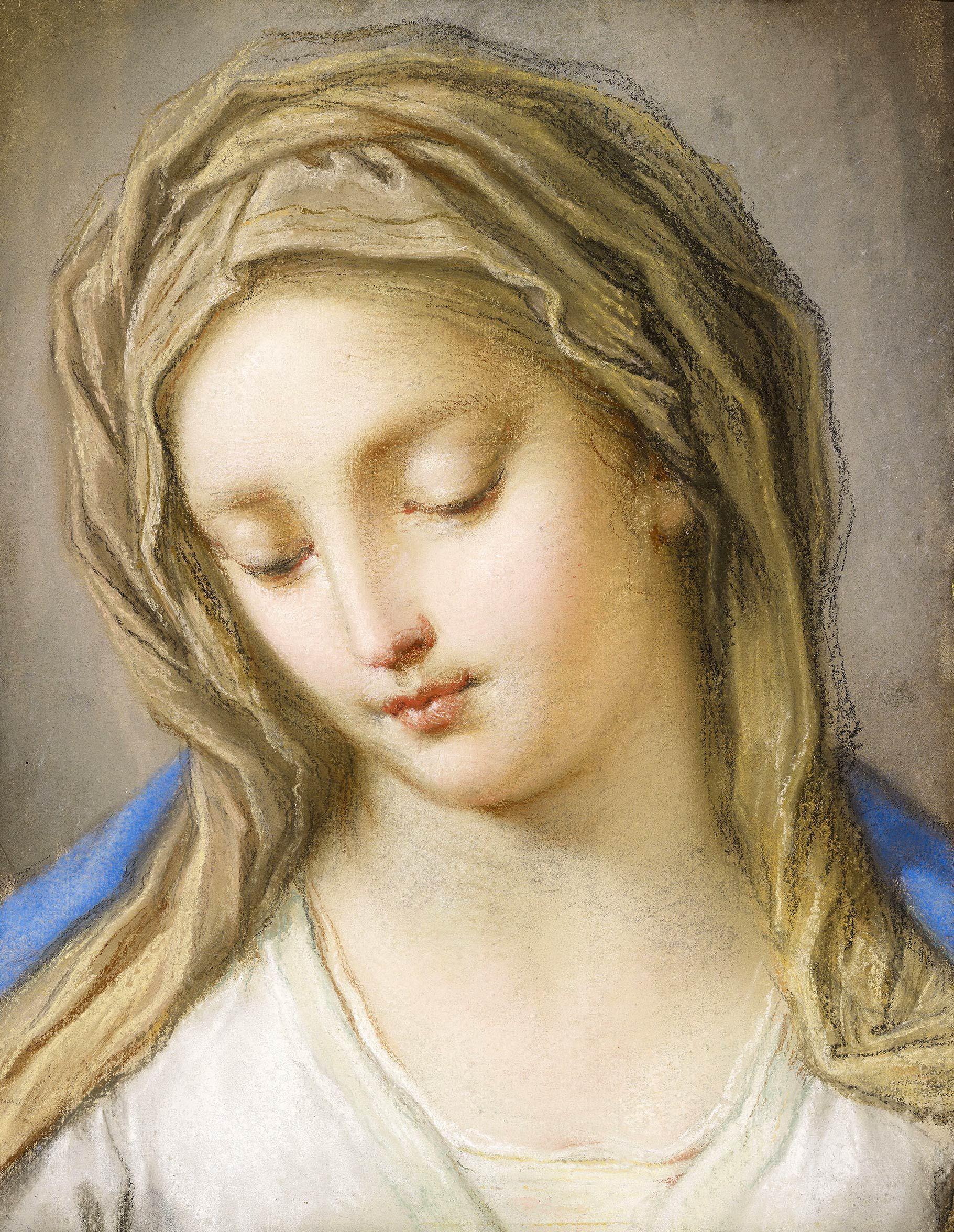 Benedetto Luti | Head of the Virgin | 1714 | The Morgan Library & Museum