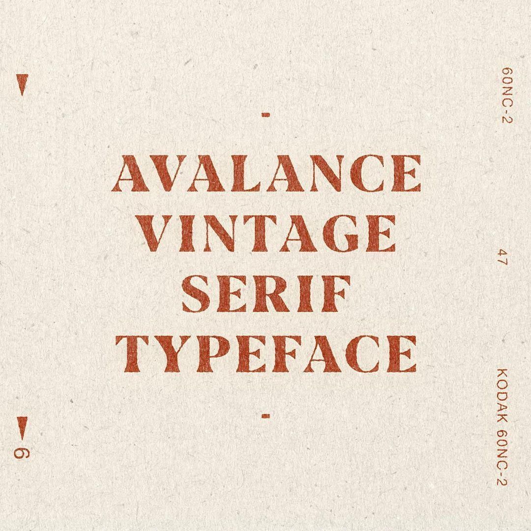One Of My Favourite 70 S Inspired Fonts I Created Avalanche Like All My Fonts I Took The Retro Curves Of The Era And Put A Serif Word Mark Logo Serif Fonts