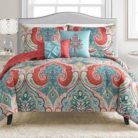 Vcny Casablanca 5 Piece Comforter Set Walmart Com Comforter Sets Bedding Sets Duvet Sets