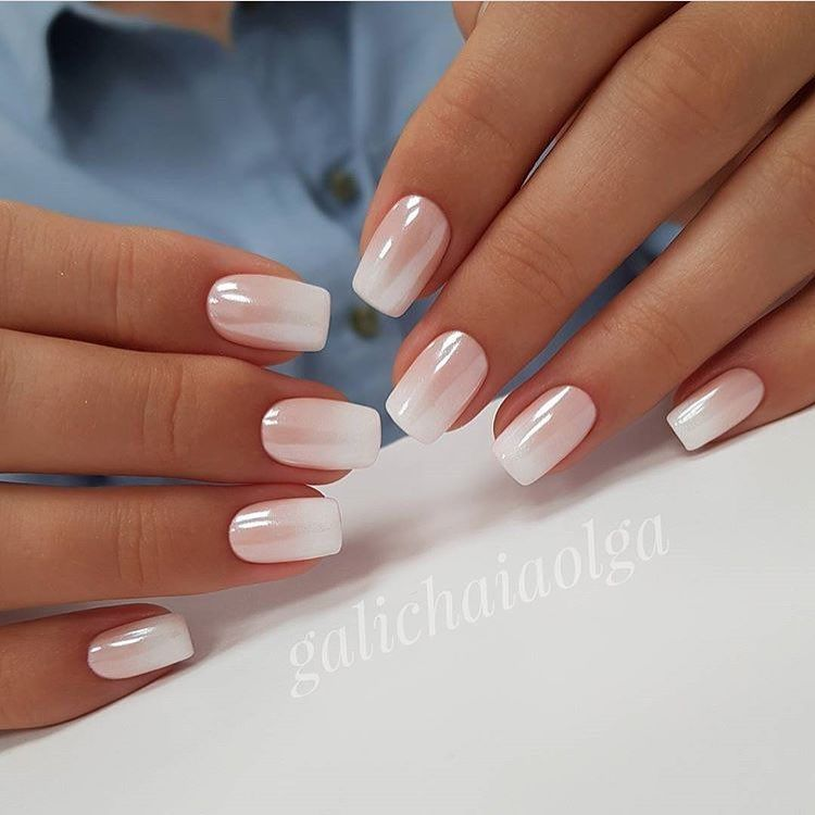Nice Natural Tone Ombre Nails