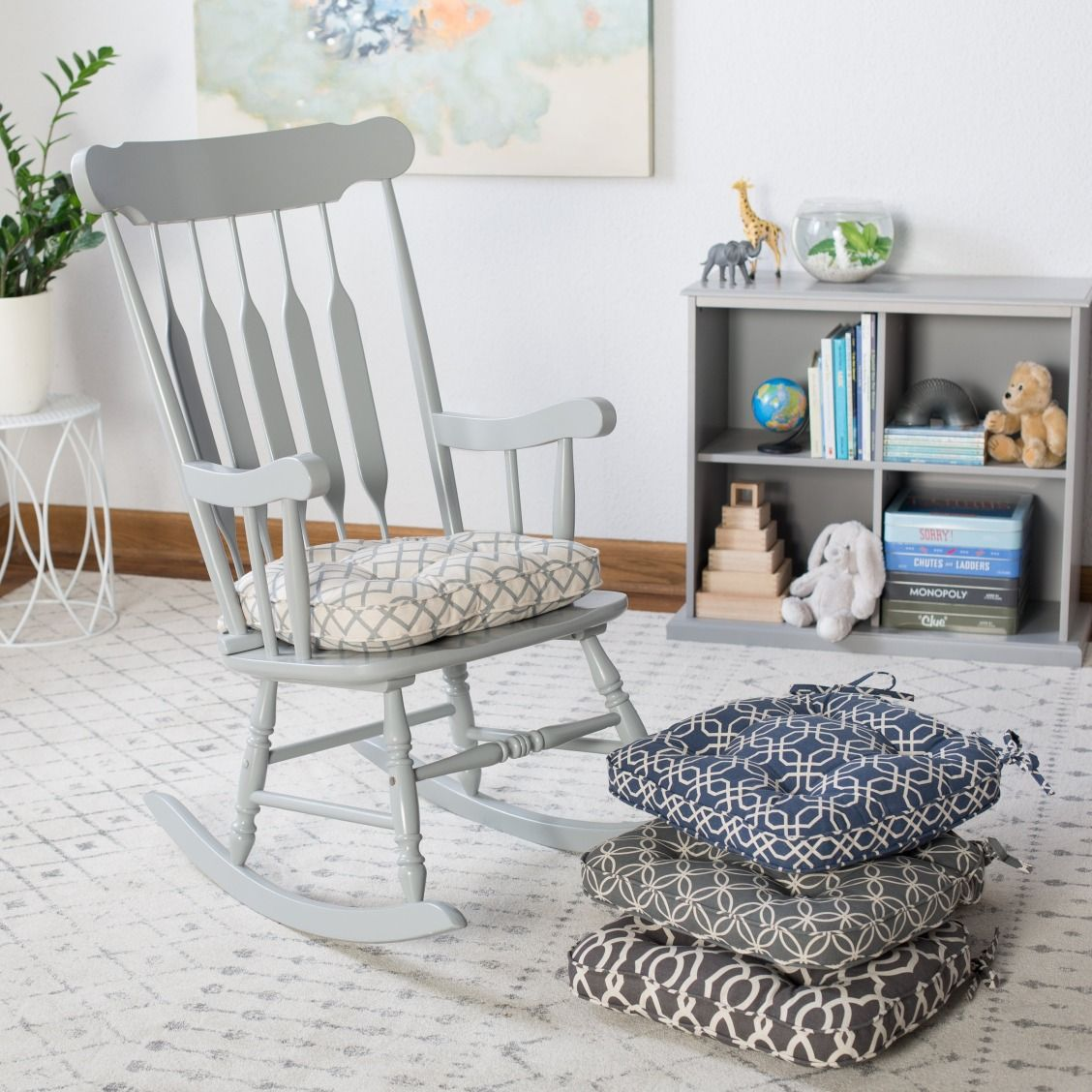 Belham Living Printed Indoor Rocking Chair Cushion (With