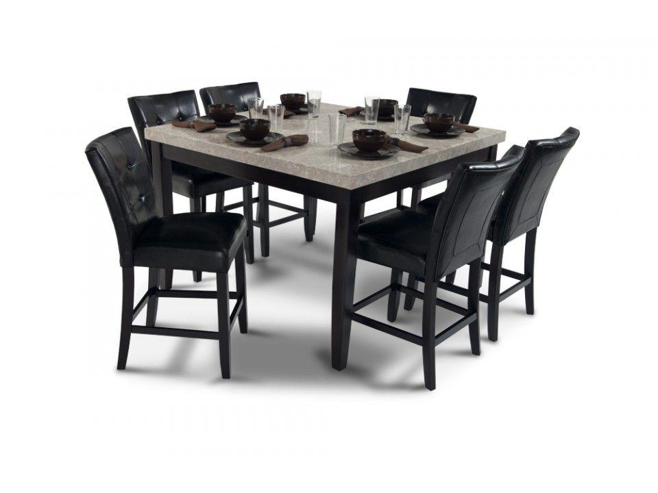 "montibello 54"" x 54"" pub 7 piece set | dining room sets | dining"