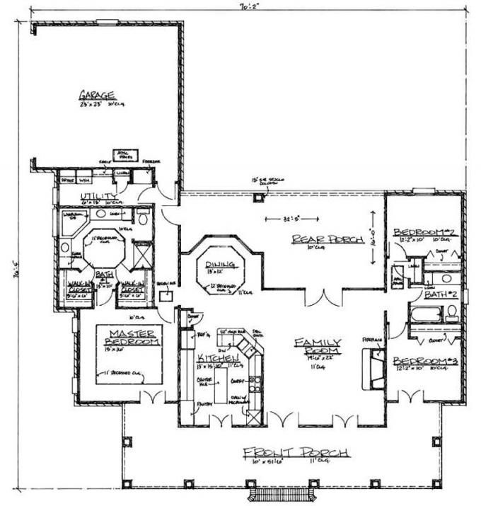 653382 simple acadian style house plans floor plans for Acadian style house plans with wrap around porch