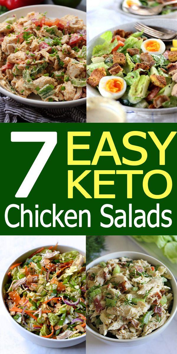 7 Easy Keto Chicken Salads / Keto Diet / Keto Diet Recipes / Ketogenic / Ketogenic Recipes #ketodietforbeginners