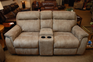 Flexsteel Casino Rocking Reclining Loveseat (Photos By HEATHER NELSON Taken  At Mayfair Furniture And Carpet
