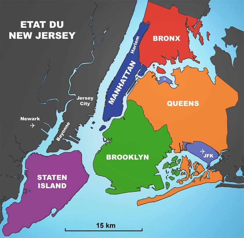 New York City Carte Des Districts 39 Borough 39 Parfois Orthographié 39 Boro 39 New York York Carte New York