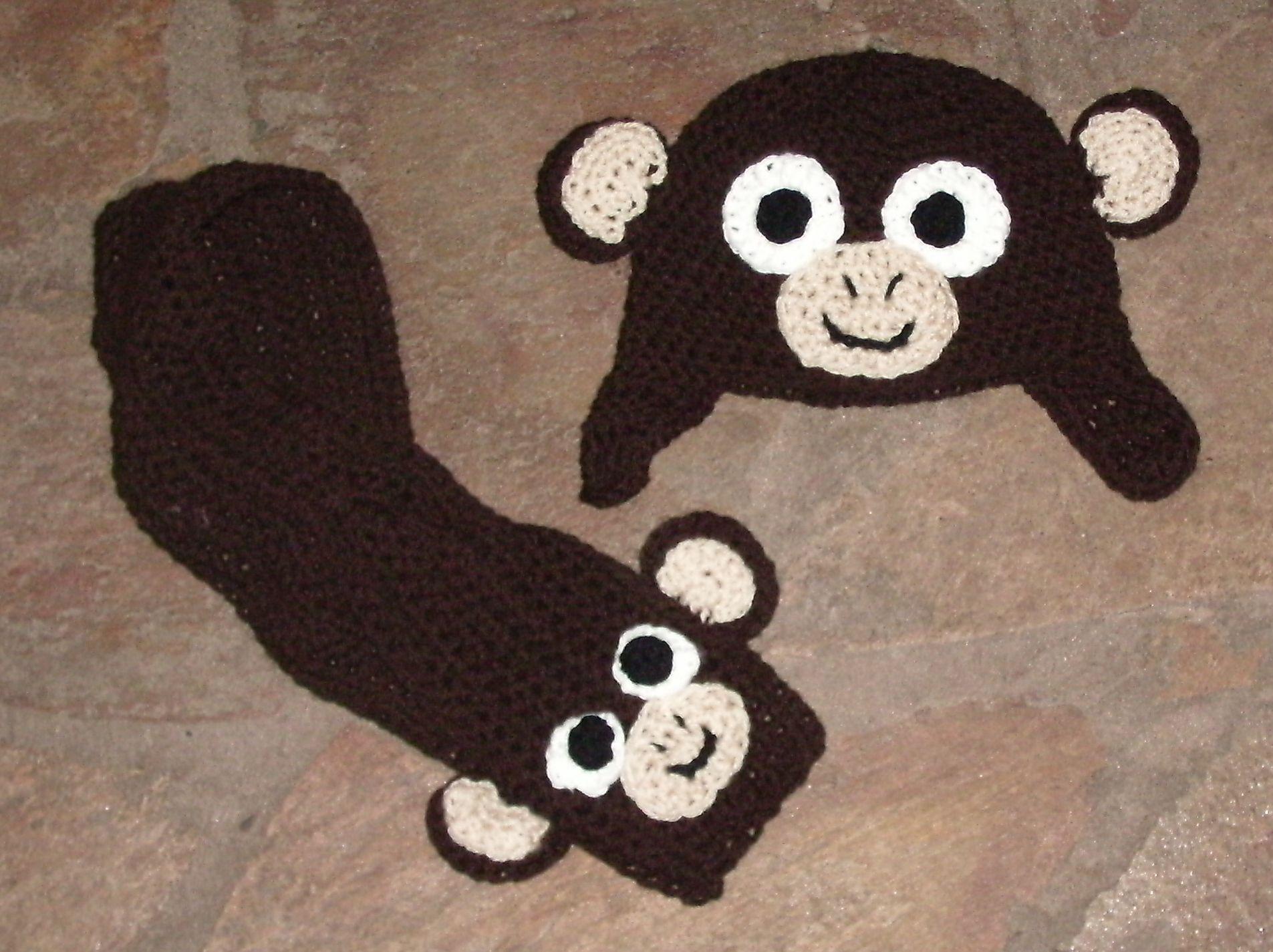 Gorro y bufanda corta mono... | Gorritos | Pinterest | Mono, Gorros ...
