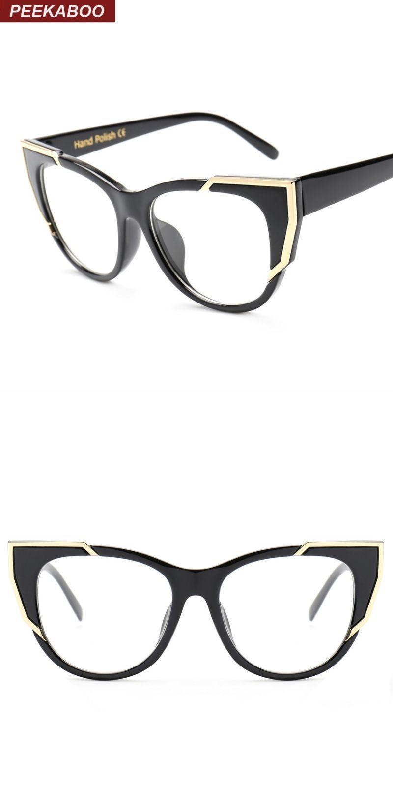 463311f8fb2b Brand designer eye glasses frames for women cat eye clear lens fashion sexy  vintage spectacle frames female uv lunette  eyewear  accessories  frames   solid ...