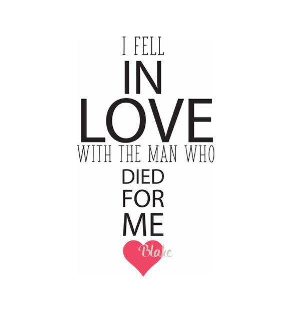 Download I Fell In Love With The Man Who Died For Me svg Cross svg ...