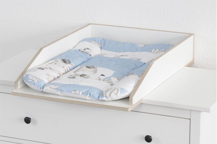 Ikea Wickeltischaufsatz wickeltischaufsatz boxenstopp50 dlx mit auflage auf weißer hemnes