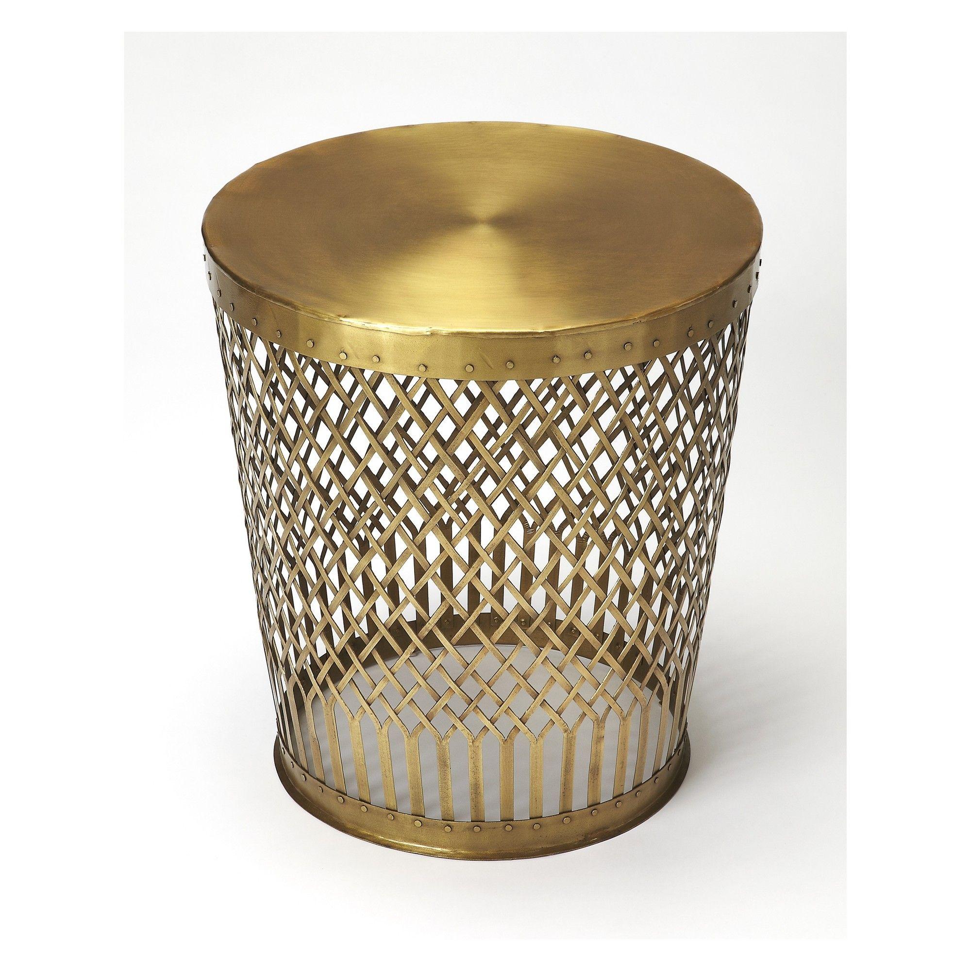 Oliver End Table Antique Gold   Butler Specialty