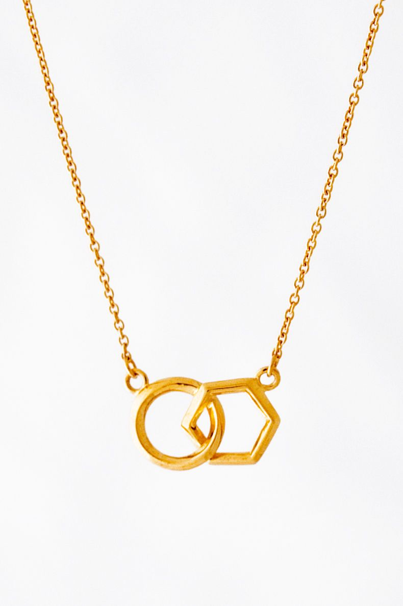 One of our gold honeycomb life circle necklaces. www.strangeoflondon.com