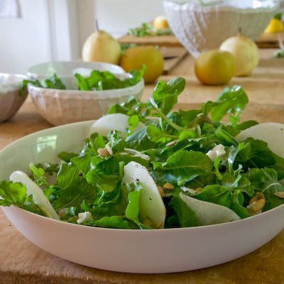 Asian Pear and Arugula Salad with Goat Cheese | Food & Wine