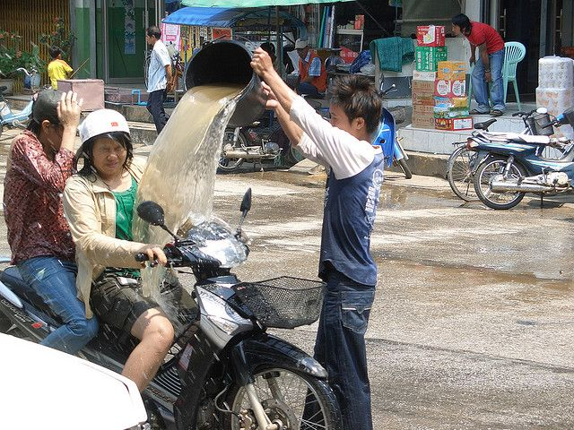 Songkran - The Traditional Festival in Thailand.