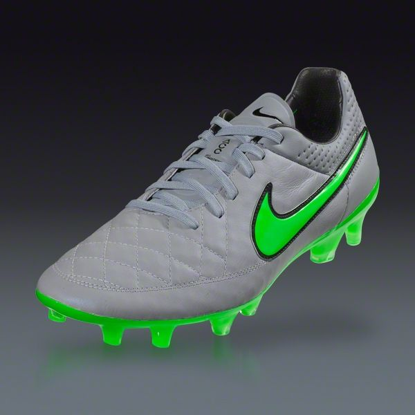Buy Nike Tiempo Legend V FG - Wolf Grey/Green Strike-Black - Silver Storm  Firm Ground Soccer Cleats on SOCCER. Shop for all your soccer equipment and  ...