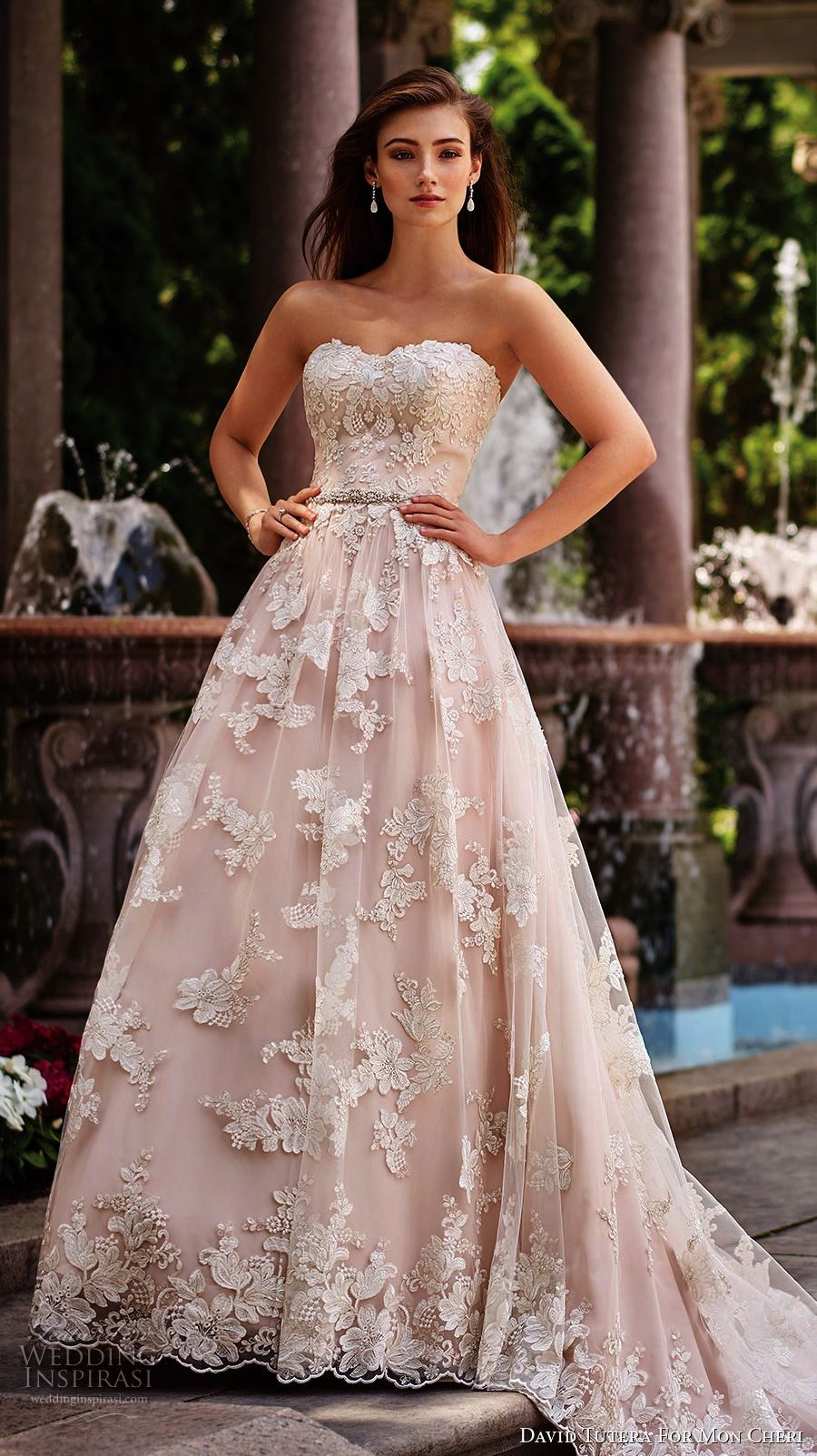 Lace mermaid wedding gowns with long trains  Lace Mermaid Wedding Gowns With Long Trains Beautiful Strapless