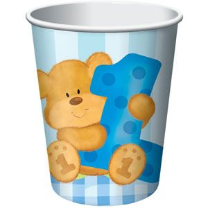 Bear's 1st Birthday Boy 9oz Cups