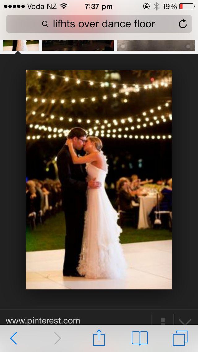patio lights over dance floor