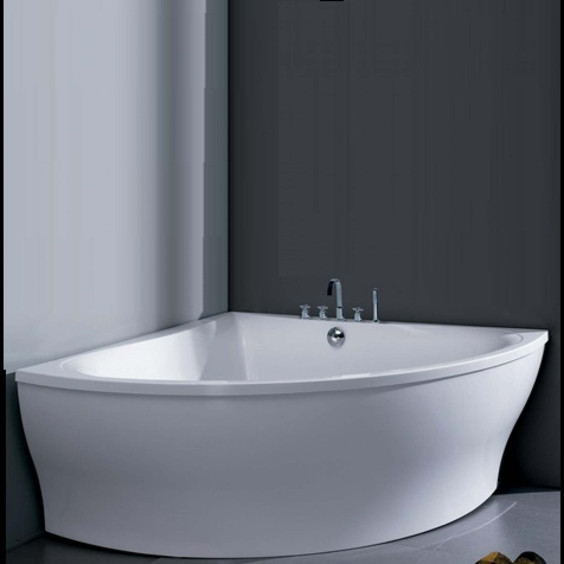 Moda Segno Freestanding Bath 8Mm Thick Acrylic Gloss  Product Delectable Acs Designer Bathrooms Decorating Inspiration