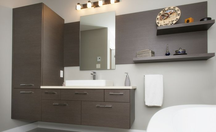 Wandschrank für Badezimmer regalen beleuchtung Salle de bain