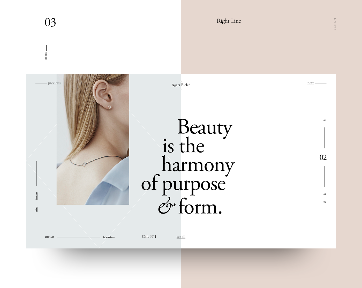 An Online Magazine Template for Photoshop, created with the Golden ...