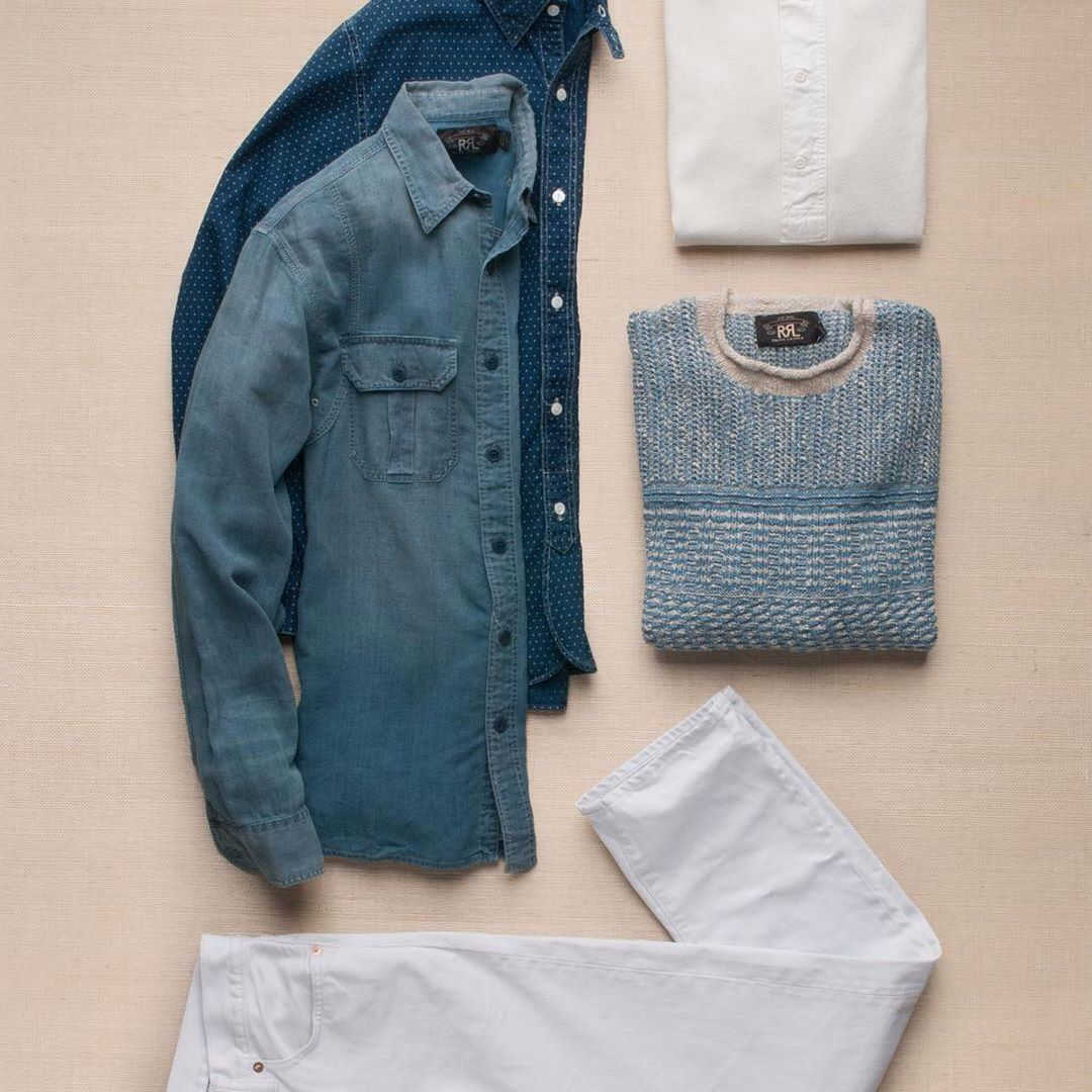 TRUE BLUE: As summer hits its stride, RRL offers up another handsome collection full of vintage-inspired style. Anchored around a rich indigo colorway. #RRL #Indigo https://www.instagram.com/p/BHfh44CDXg7/