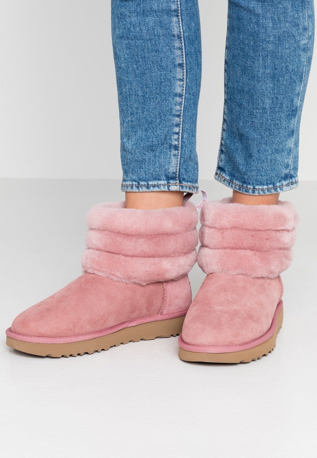 UGG Boots Fluff Mini Quilted Pink