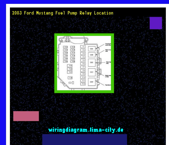2003 ford mustang fuel pump relay location  wiring diagram 174513  -  amazing wiring diagram collection