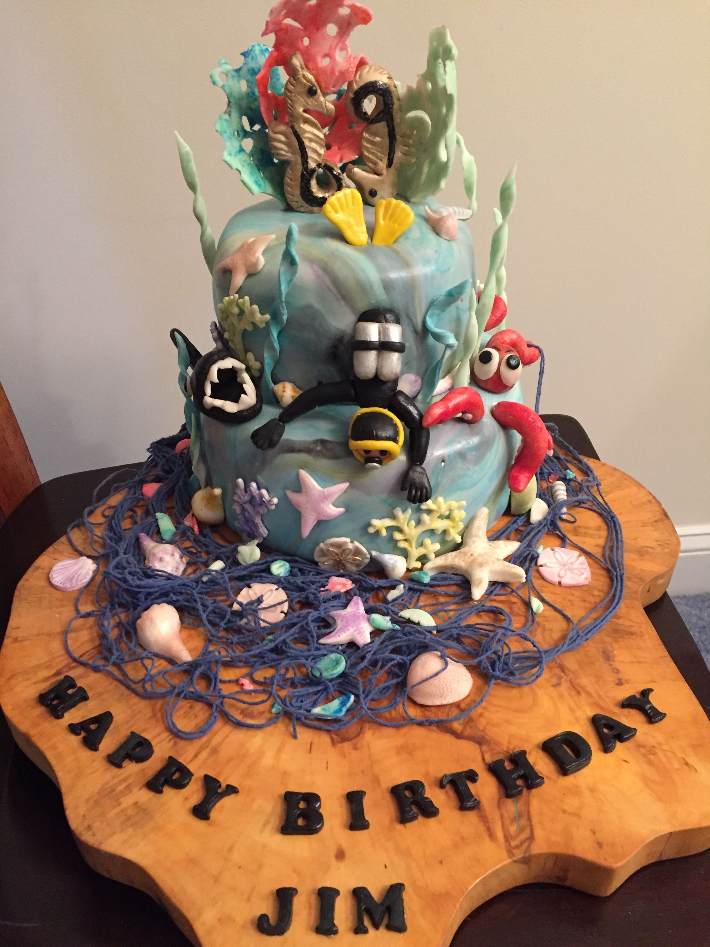 Made This Birthday Cake For My Diver Friend Jim Happy