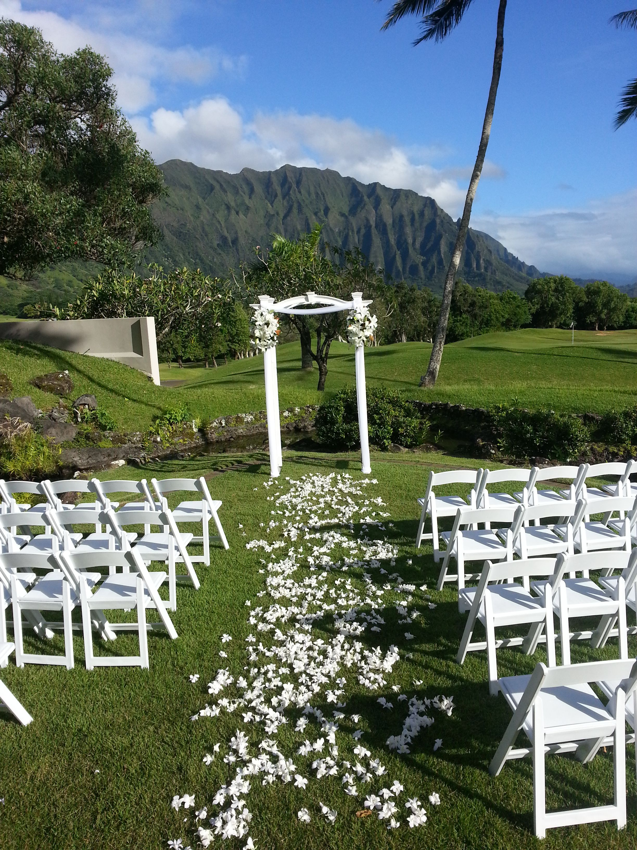 Koolau Golf Course Love The Mountains In Background Courses Issa Wedding