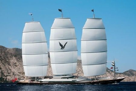 Maltese Falcon Private 289 Foot Sailing Yacht Built By Businessman Tom Perkins Who Sold His Bug Sailing Yacht Maltese Falcon Yacht Yacht For Sale