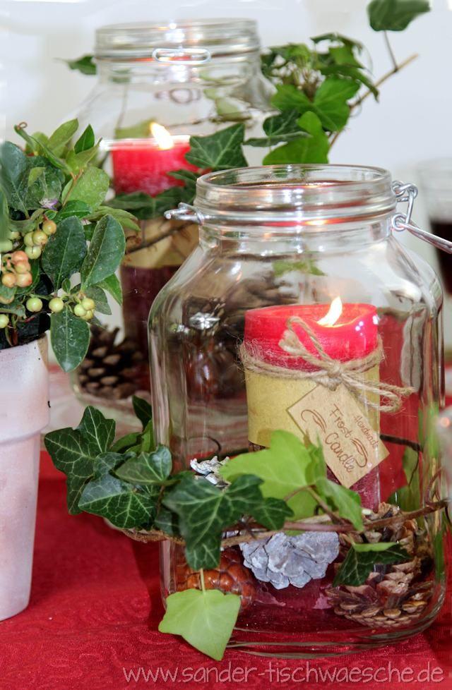 Tischdeko für Herbst und Weihnachten: Vorratsgläser und Weckgläser #herbstdekotisch