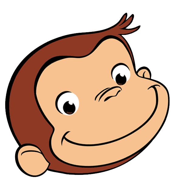 curious george face image 2nd birthday pinterest face images rh pinterest nz