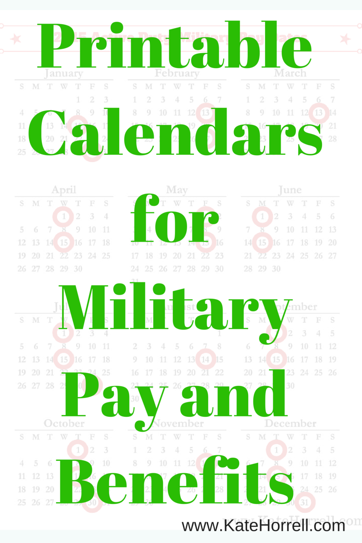 2020 Military Paydays With Printables Military Spouse Blog