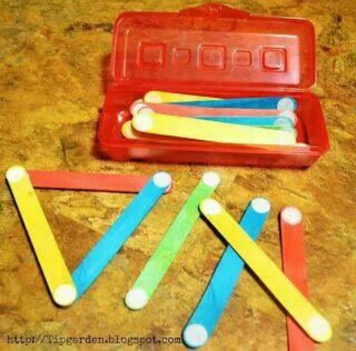 Velcro dots and popsicle sticks