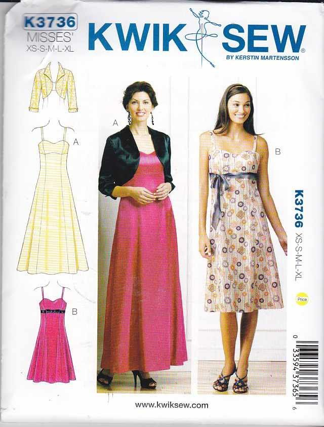 Kwik Sew Sewing Pattern 3736 Misses Sizes 8-22 Long Short Flared ...