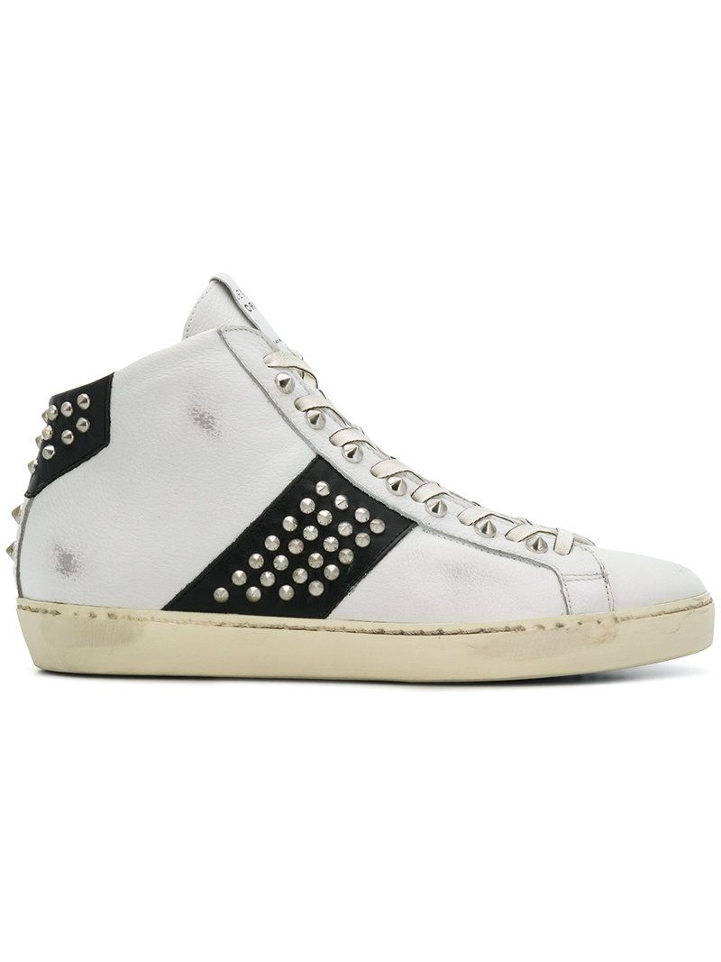 Leather Crown 'm Iconic' High-top