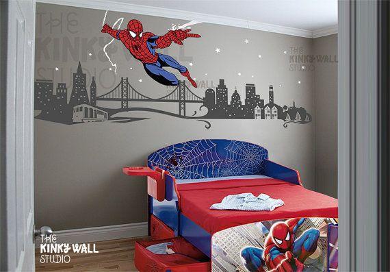 Spiderman wall decal coulson ideas pinterest cuarto for Stickers habitacion nina