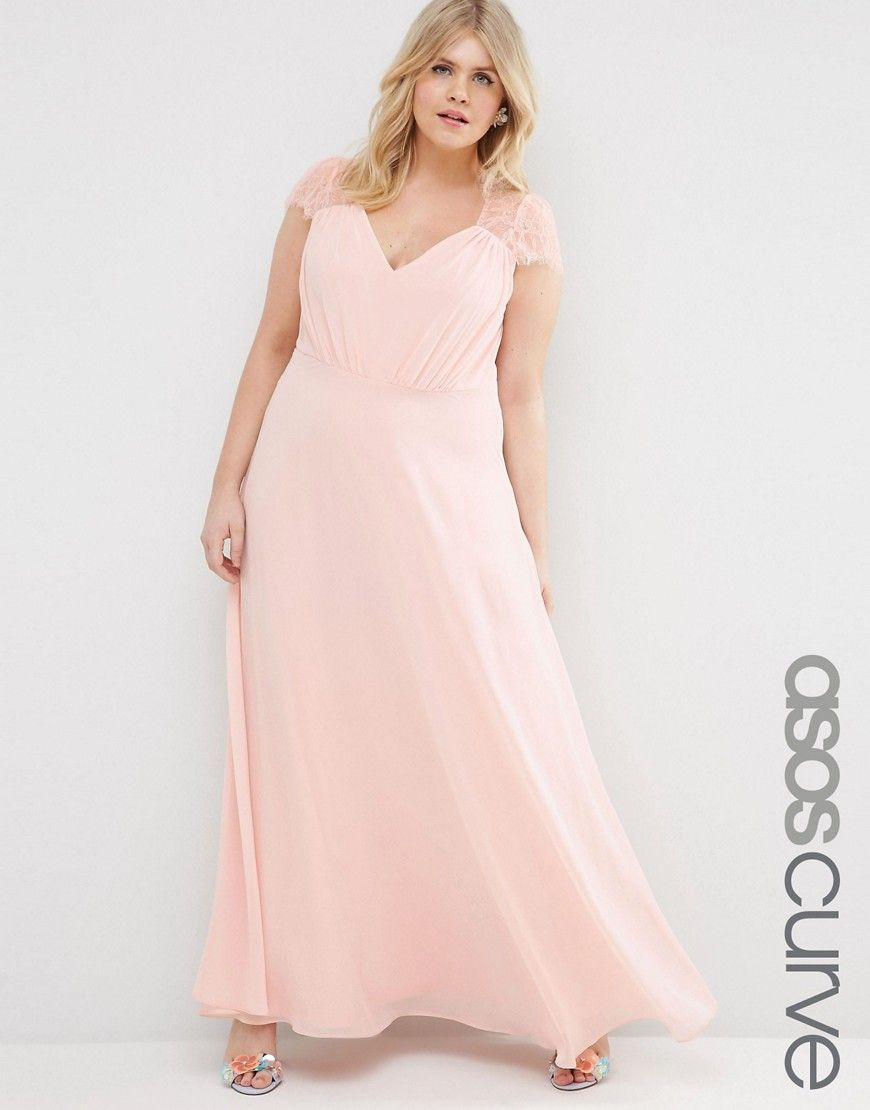 Curvy wedding guest dresses asos  Image  of ASOS CURVE Kate Lace Maxi Dress  ASOS Curve Finds