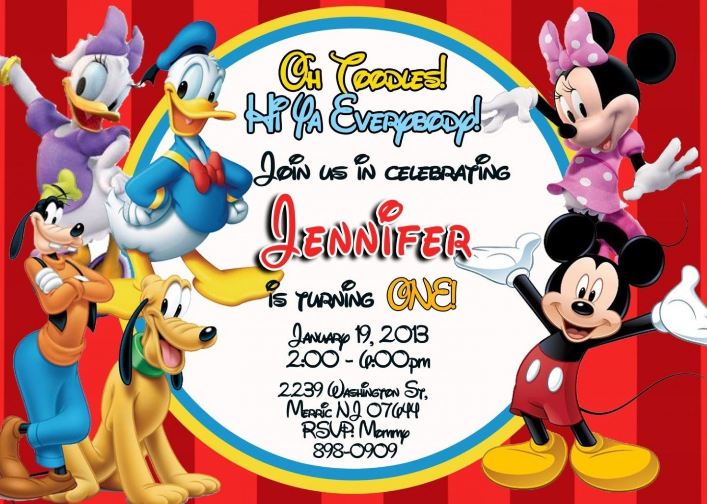 photograph relating to Printable Mickey Mouse Invitations called Totally free Printable Mickey Mouse Clubhouse Invites Template